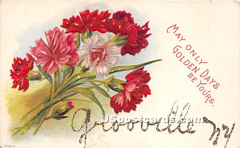 May only golden days be yours - Grooville, New York NY Postcard
