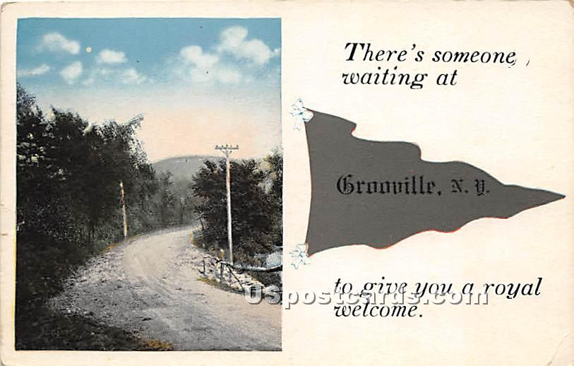There's someone waiting - Grooville, New York NY Postcard
