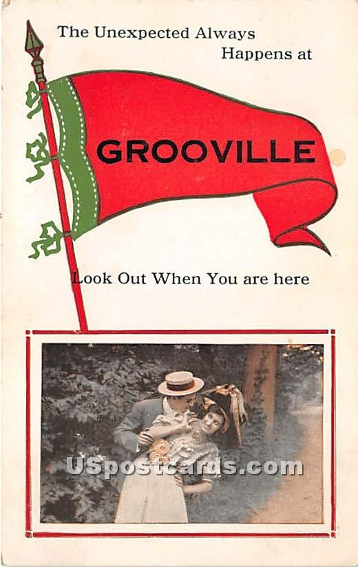 Unexpected Always Happens - Grooville, New York NY Postcard