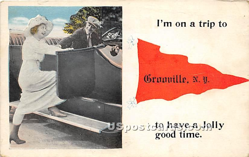I'm on a Trip - Grooville, New York NY Postcard