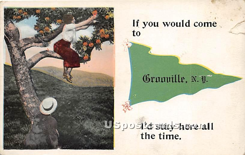 If you Would Come - Grooville, New York NY Postcard