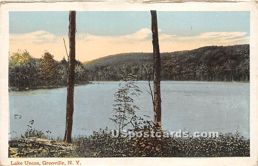 Lake Uncas - Grooville, New York NY Postcard