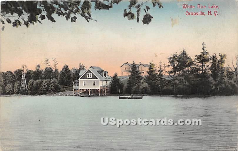 White Roe Lake - Grooville, New York NY Postcard
