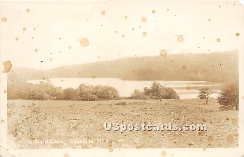 Orchard Lake - Grooville, New York NY Postcard