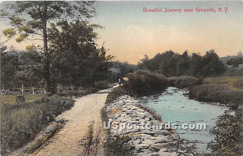 Beautiful Scenery - Grooville, New York NY Postcard