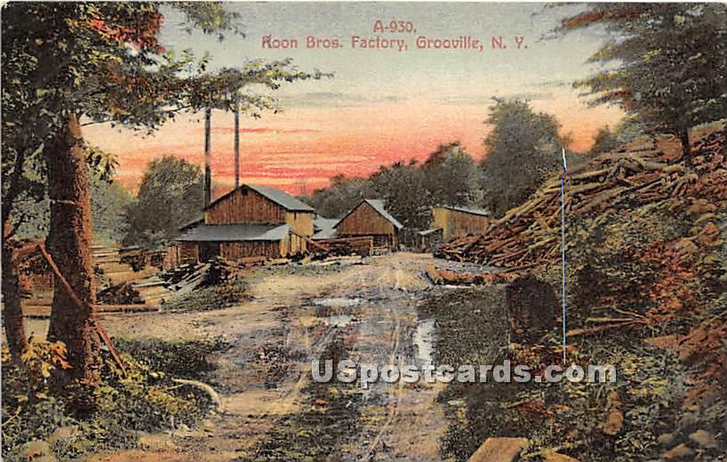 Roon Bros Factory - Grooville, New York NY Postcard