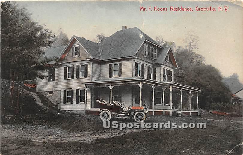 Mr F Koons Residence - Grooville, New York NY Postcard