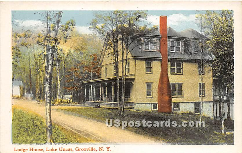 Lodge House - Grooville, New York NY Postcard