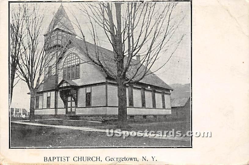 Baptist Church - Georgetown, New York NY Postcard