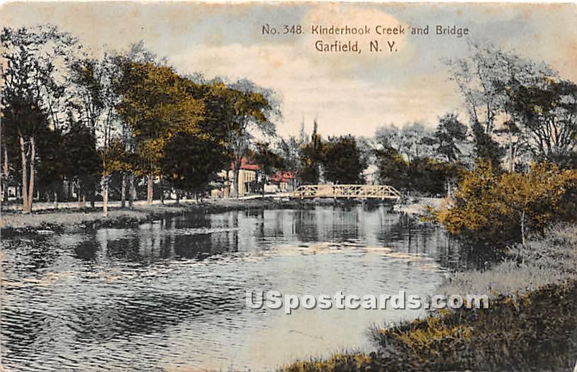 Kinderhook Creek - Garfield, New York NY Postcard