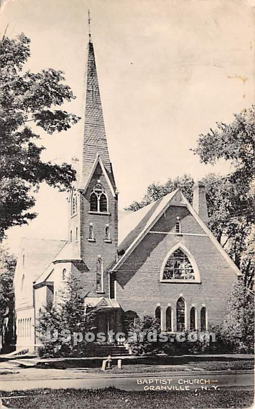 Baptist Church - Granville, New York NY Postcard