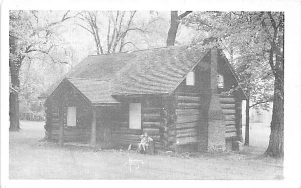 Log Cabin Geneseo, New York Postcard