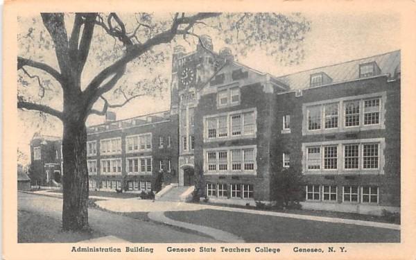 Geneseo State Teachers College New York Postcard