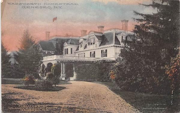 Wadsworth Homestead Geneseo, New York Postcard