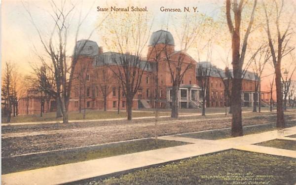 State Normal School Geneseo, New York Postcard