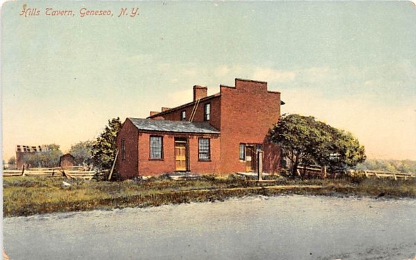 Hills Tavern Geneseo, New York Postcard