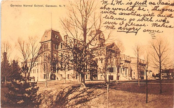 Geneseo Normal School New York Postcard