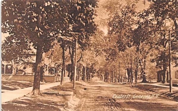 Center Street Geneseo, New York Postcard