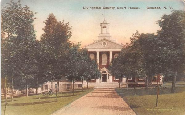 Livingston County Court House Geneseo, New York Postcard