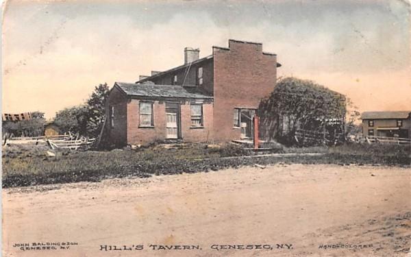 Hill's Tavern Geneseo, New York Postcard