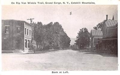 Bank at Left Grand Gorge, New York Postcard