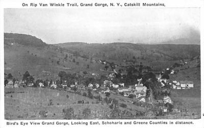 Looking East, Schoharie & Greene Counties in Distance Grand Gorge, New York Postcard