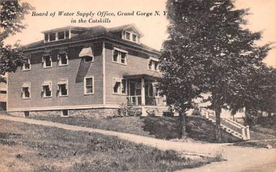 Board of Water Supply Office Grand Gorge, New York Postcard