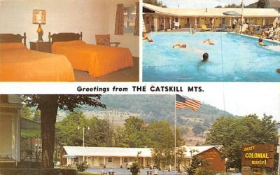 Tait's Colonial Motel Grand Gorge, New York Postcard