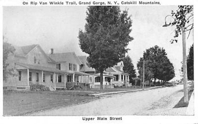 Upper Main Street Grand Gorge, New York Postcard