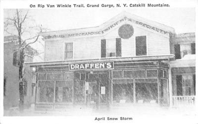 April Snow Storm Grand Gorge, New York Postcard