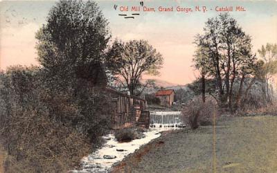 Old Mill Dam Grand Gorge, New York Postcard