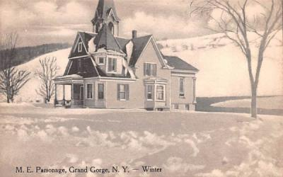 ME Parsonage Grand Gorge, New York Postcard