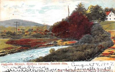 Hallcotts Stream Grand Gorge, New York Postcard