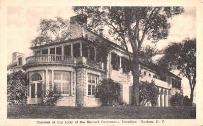 Convent of Our Lady of the Blessed Sacrament Goshen, New York Postcard