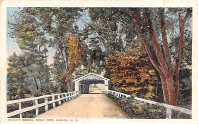 Brook's Bridge Goshen, New York Postcard