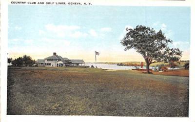 Country Club & Golf Links Geneva, New York Postcard