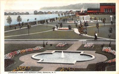 Lakeside Park Geneva, New York Postcard
