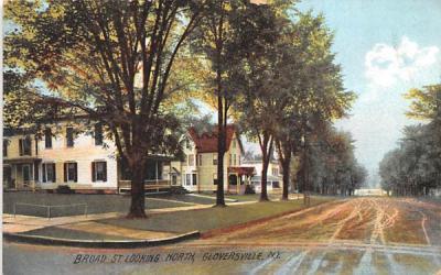 Broad Street Gloversville, New York Postcard