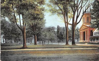Kingsboro Avenue Gloversville, New York Postcard
