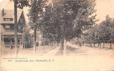 Kingsborough Avenue Gloversville, New York Postcard