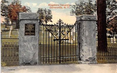 Kingsboro Cemetery Gloversville, New York Postcard