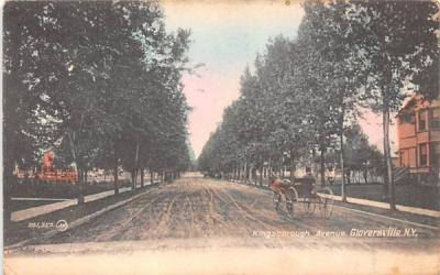 Kingsborough Avenue Gloversville, New York Postcard