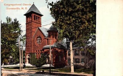Congregational Church Gloversville, New York Postcard