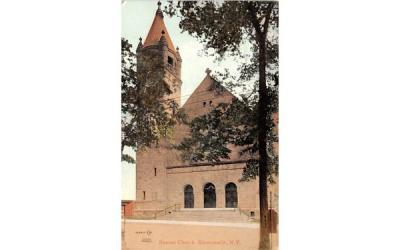 Baptist Church Gloversville, New York Postcard