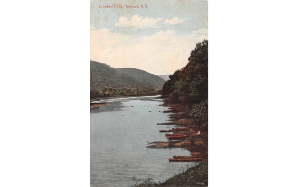 Crooked Eddy Hancock, New York Postcard