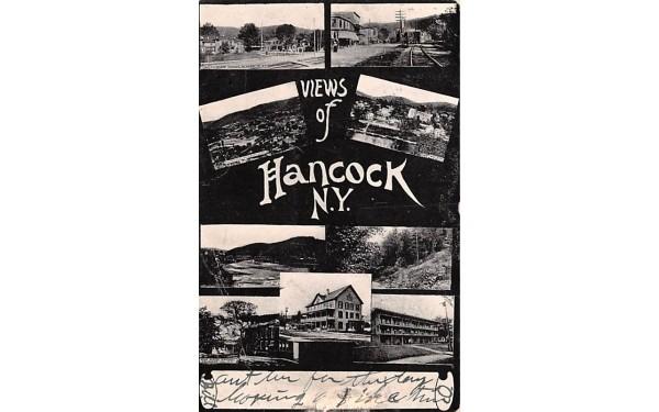 Views of Hancock New York Postcard