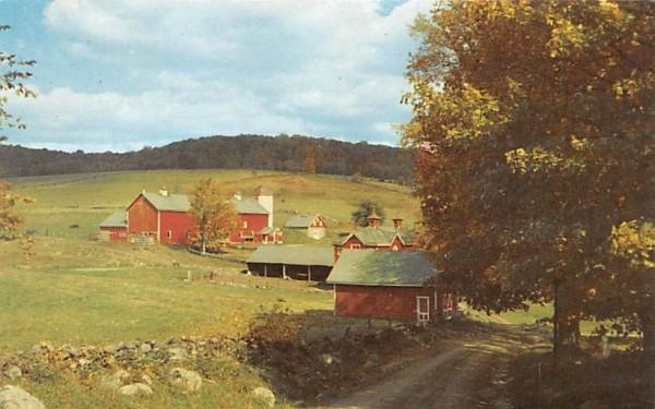 Red Barn Hancock, New York Postcard