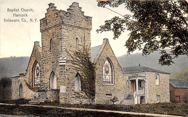Baptist Church Hancock, New York Postcard