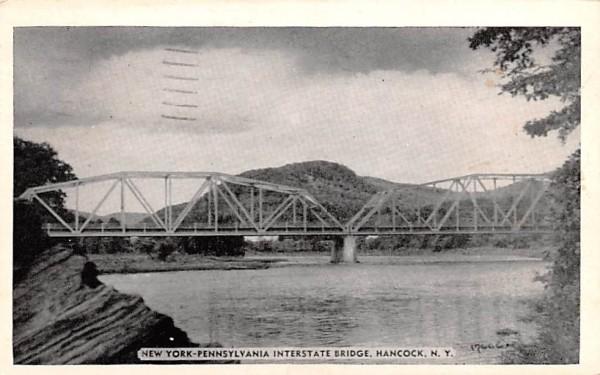New York Pennsylvania Interstate Bridge Postcard