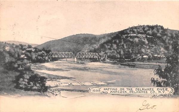 Rafting on the Delaware River Hancock, New York Postcard